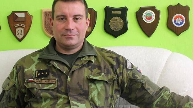 Nový velitel hranických kasáren Pavel Lipka