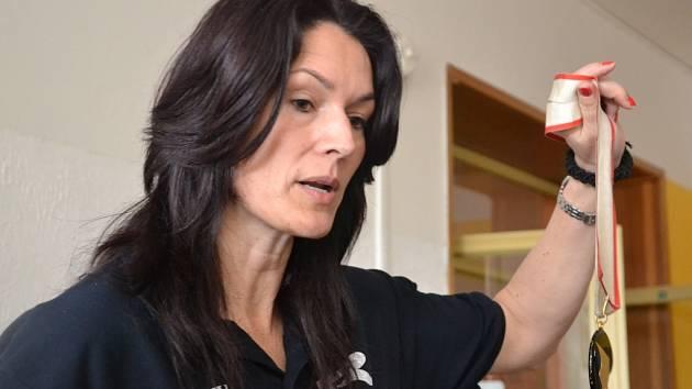 Bývalá trojskokanka Šárka Kašpárková přijela do Hranic v rámci dalšího ročníku Odznaku všestrannosti olympijských vítězů.