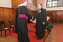 Slavnostní bohoslužbě byl přítomen i olomoucký arcibiskup Jan Graubner.