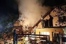 Požár rodinného domu v Bělotíně-Kunčicích