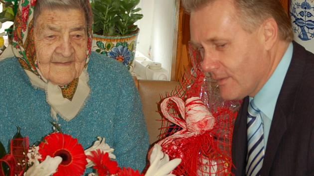 Nejstarší obyvatelka Přerova Marie Klesnilová oslavila sto jedna let.