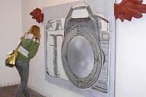 Malba 1.  Výstava pedagogů a studentů Fakulty umění Ostravské univerzity v hranické synagoze