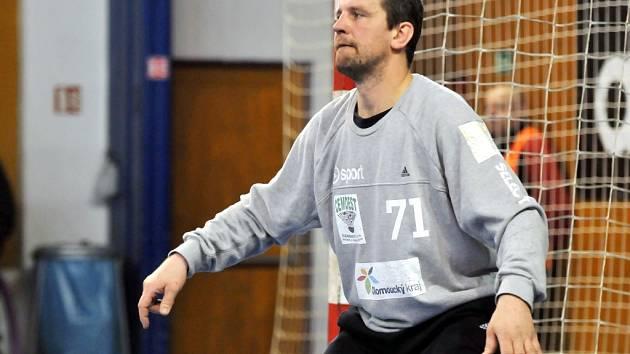 Hranický gólman Josef Kučerka