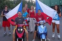In-line jízda v Přerově k výročí 21. srpna