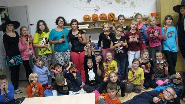 Halloweenské nocování v Domě dětí a mládeže v Hranicích