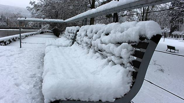 Sněhová nadílka v Hranicích - 4. 2. 2019