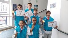 Medailoví žáci Judo Hranice v Jablonci nad Nisou.