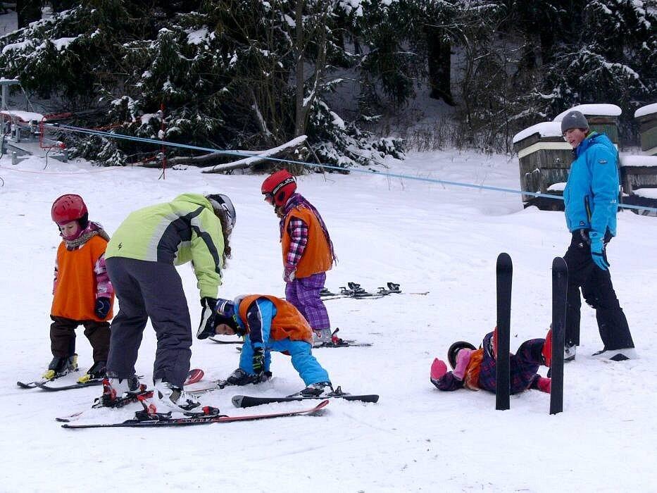 Lyžování ve Ski areálu Potštát