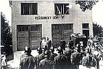 Otevření požárního domu v Opatovicích v roce 1959.