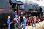 Parní lokomotiva Šlechtična v Hranicích