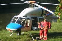 S nalezením místa pro přistání neměla v úterý letecká záchranná služba žádný problém.