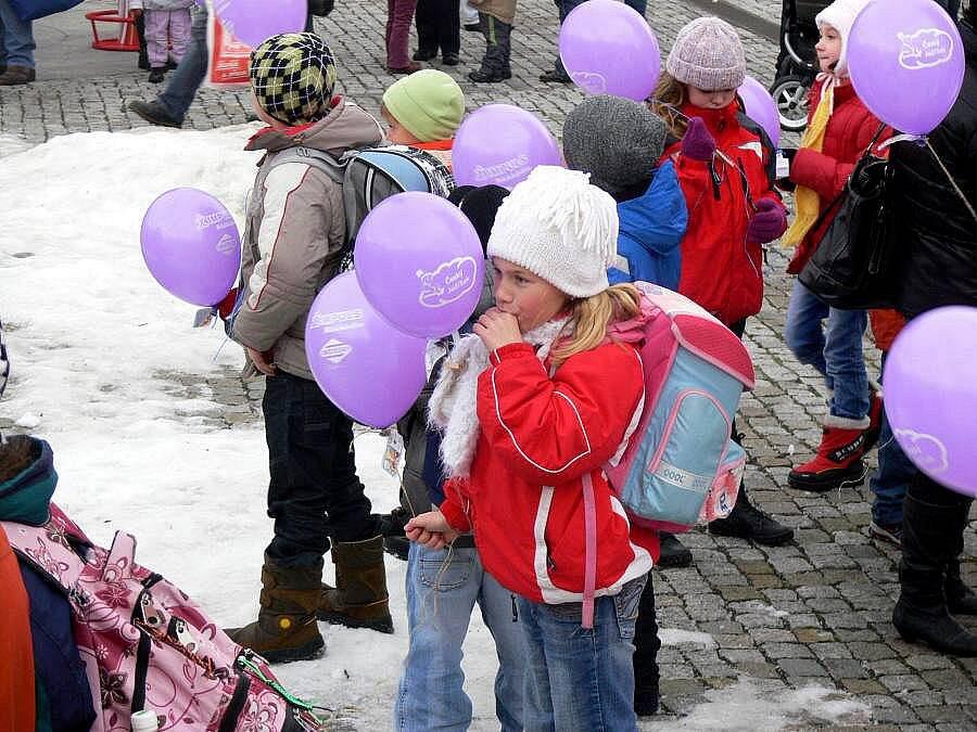 Balonky v Hranicích s přáním Ježíškovi