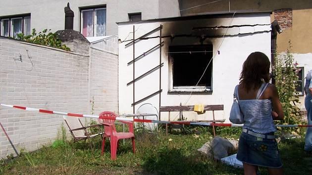 Zdevastovaný dům v Horní Moštěnici.