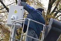 Instalace mobilní kamery v hranickém parku