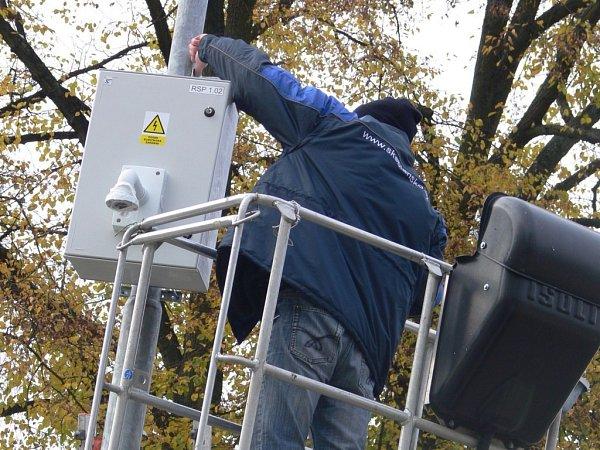 Instalace mobilní kamery vhranickém parku