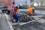 Oprava Purgešovy ulice v Hranicích