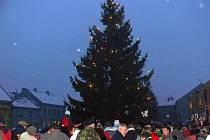Rozsvěcení vánočního stromu v Drahotuších