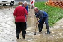 Přivalový déšť zaplavil v úterý 11. května Hranice