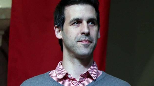 Martin Stržínek přebral v Hranicích za házenkáře Cementu cenu pro kolektiv roku 2014
