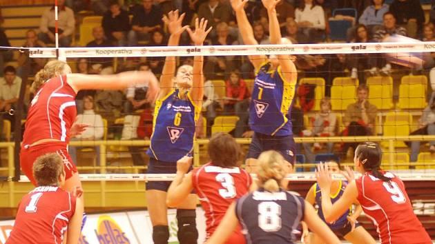 Bloky, to jediné nešlo Prostějovským volejbalistkám dle představ, ostatní herní činnosti jim zajistily proti Olympu těsné vítězství.