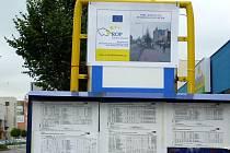 Provizorní plakátky na opravovaných zastávkách hranické MHD