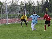 Hranice (v modrém) proti béčku 1. HFK Olomouc
