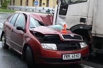 Nehoda na třídě ČSL v Hranicích