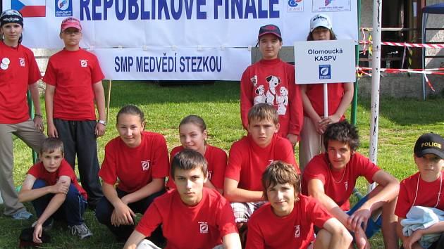 Družstvo Olomouckého kraje, jehož součástí byli i střítežští závodníci, skončilo čtvrté.