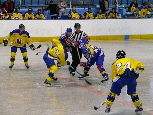 Přerovští hokejisté předčili svého soupeře alespoň ve vyhraných vhazováních.