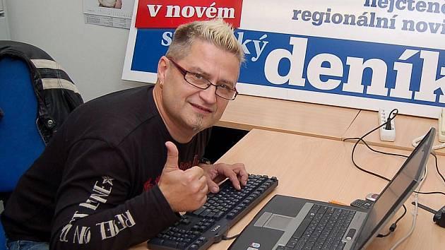 Lídr Argemy Pepa Pavka v redakci Slováckého deníku odpovídal na dotazy čtenářů.
