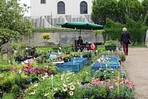 Trh v Uherském Brodě přesunuli na pět měsíců z Masarykova náměstí do zahrady Panského domu.