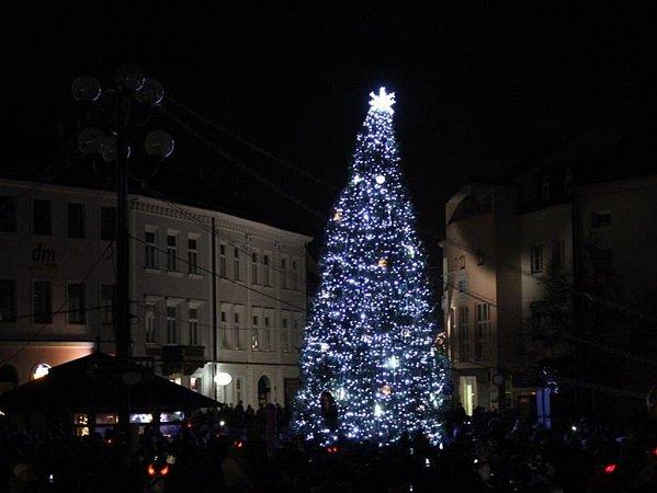 Vánoční strom vUherském Hradišti, 2015.