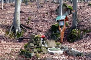 Zuzančina studánka v Chřibech.