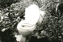Toaleta pohozená uprostřed Chřibů.