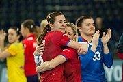Reprezentační křídelnice Kristýna Mika (dříve Salčáková)  patří k nejzkušenějším hráčkám Bašného výběru.