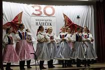 Folklorní soubor Háječek z Ostrožské Lhoty oslavil 30 let existence.