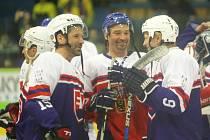 Legendy a osobnosti českého a slovenského hokeje se v sobotu střetly v Uherském Brodě.