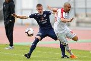 Fotbalisté Slovácka (v modrých dresech) ve středečním přípravném zápase podlehli ruskému Spartaku Moskva 0:1.