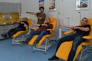 Movember v Uherskohradišťské nemocnici podpořili také herci Slováckého divadla, kteří 1. listopadu podstoupili krevní testy.