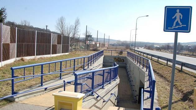 Podchod pod silničním obchvatem mezi Podolím a Popovicemi