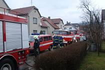 Požár plynového kotle rodinného domu v Brumově.