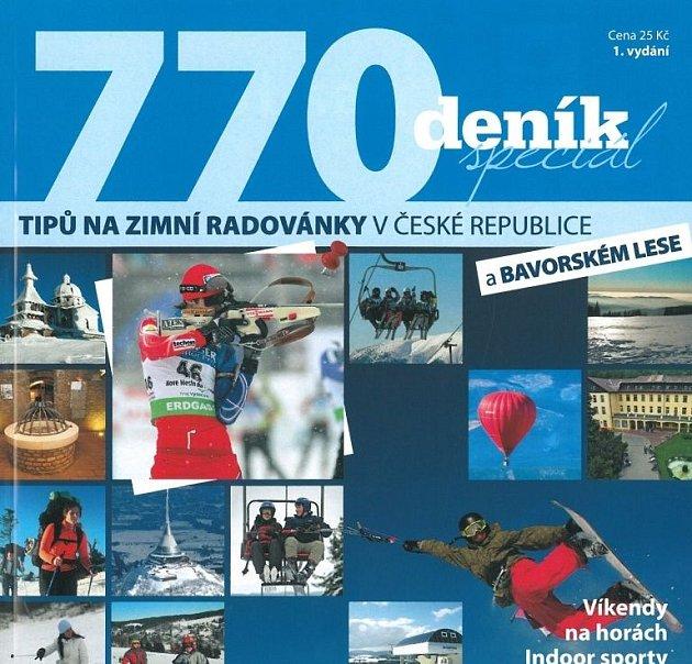 Přebal katalogu 770 tipů na zimní radovánky v České republice.