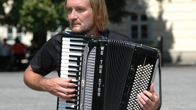 Igor Gajan ze skupiny Sherpa Band.