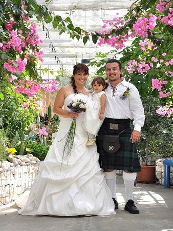 Soutěžní svatební pár číslo 77 - Ilona a Petr Komárkovi, Lipník nad Bečvou.