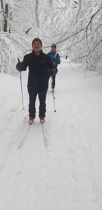 Největší areál pro běžkaře v regionu Slovácka je určitě nad Novou Lhotou.