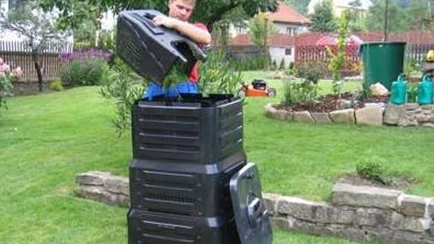 Domácí kompostér. Ilustrační foto.