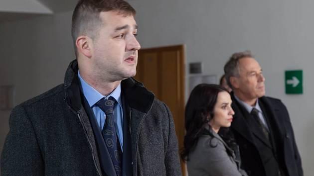 Petr Čagánek (vlevo) v seriálu Rozsudek. Ilustrační foto.
