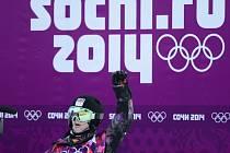 Snowboardistka Šárka Pančochová na ZOH v Soči.