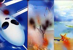 Výstava  Svět očima fantazie Vlastimila Mahdala v Uherském Hradišti. Pozdrav z modré planety