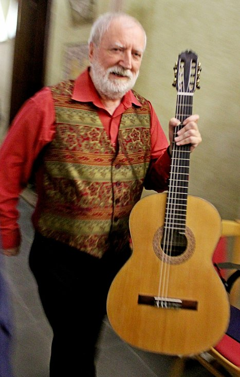 Bohem políbený kytarista Štěpán Rak koncertoval na Velehradě.